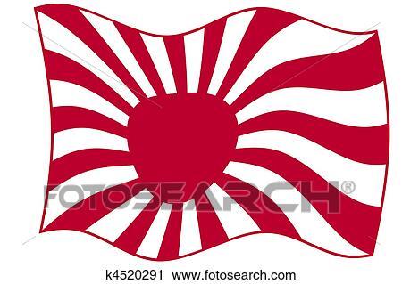 clipart soleil levant drapeau k4520291 recherchez des. Black Bedroom Furniture Sets. Home Design Ideas