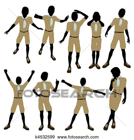 Stock Illustration of African American Boy Scout Illustration ...
