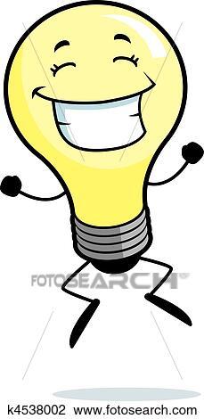 clipart gl hbirne springende k4538002 suche clip art illustration wandbilder zeichnungen. Black Bedroom Furniture Sets. Home Design Ideas