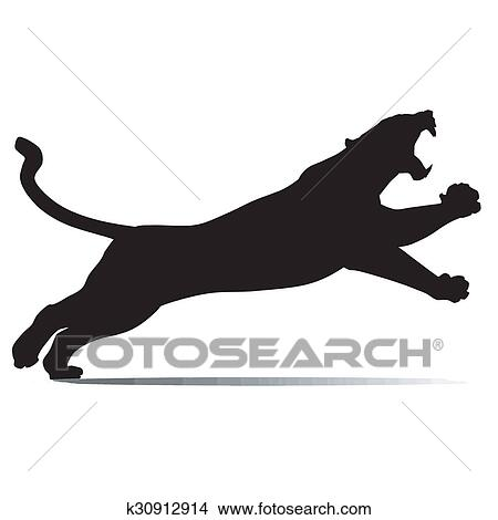 drawings of black panther is jumping k30912914 search clip art rh fotosearch com black panther clip art images black panther clipart marvel