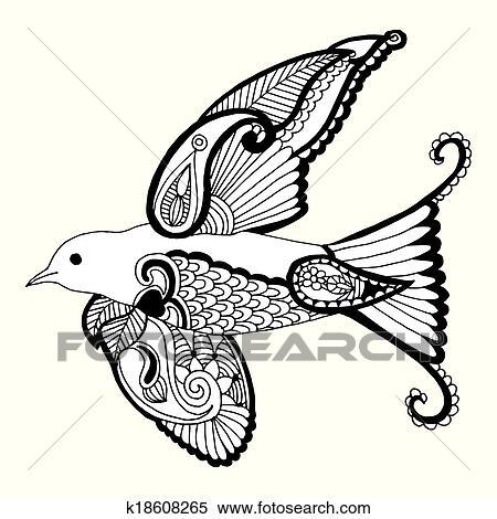 Clipart hirondelle k18608265 recherchez des clip arts des illustrations des dessins et des - Hirondelle coloriage ...