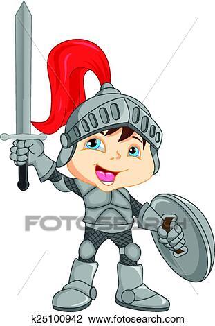 剪贴画 - 卡通漫画, 骑士, 男孩图片