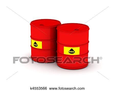 Oil Barrel Drawing Oil Barrel Two Red Barrel
