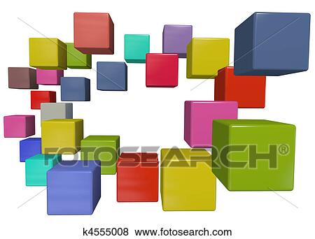 Clipart Data Cube Color Abstract Data Cubes