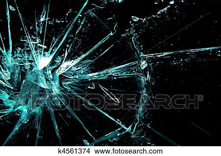 Stock photo of broken glass k4561374 search stock images for Broken glass mural