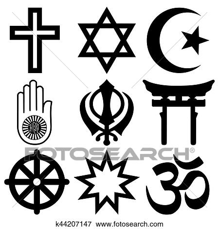 clip art of religious symbols from the top nine organised faiths of rh fotosearch com free clipart religious symbols Cross Clip Art