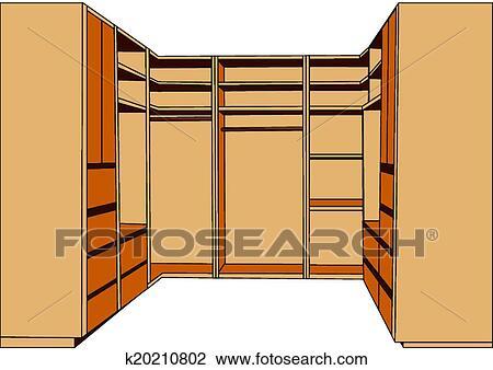 Clipart of clothes closet k20210802 search clip art for Closet icon