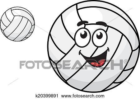 剪贴画 卡通漫画, 排球球