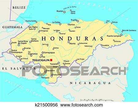 Clip Art Of Honduras Political Map K Search Clipart - Belize political map