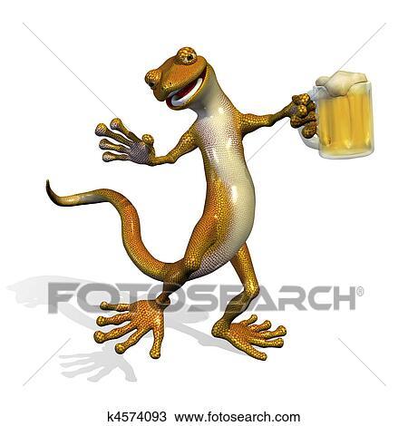 Disegno geco con birra k4574093 cerca clipart for Disegno geco