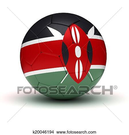 手绘图 - 肯尼亚人, 足球图片
