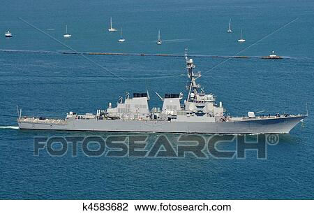 Stock Photo of The USS Higgins (DDG 76) k4583682 - Search Stock ...