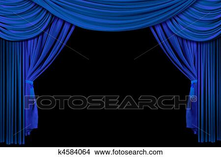 Curtains Ideas blue stage curtains : Stock Photo of Bright Blue Stage Curtains k4584064 - Search Stock ...
