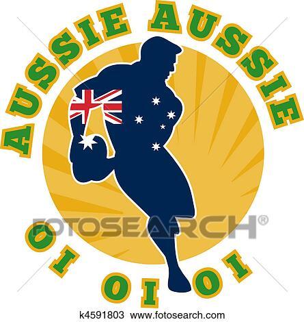 Dessin joueur rugby courant d passement balle k4591803 recherchez des cliparts des - Dessin de joueur de rugby ...