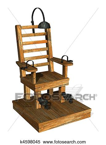 Stock illustration of electric chair k4598045 search clipart drawings decorative prints - Execution chaise electrique ...