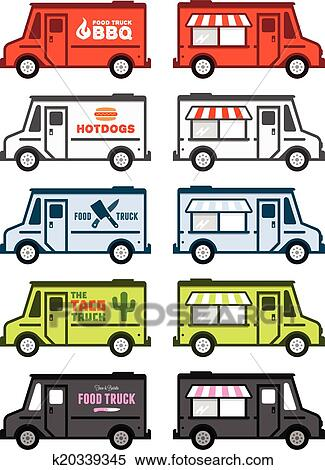Clipart Of Food Truck Graphics K20339345