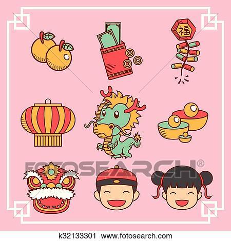 剪贴画 - 中国的新年, 图标图片
