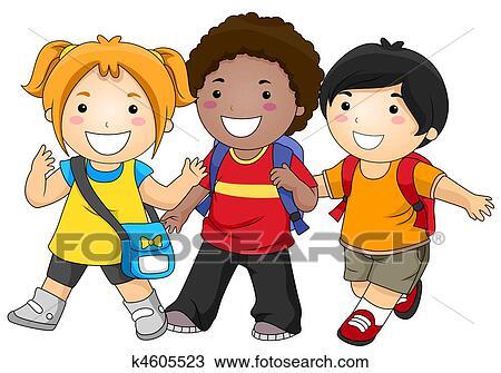 Dibujo - ir al colegio k4605523 - Buscar Clip Art ...