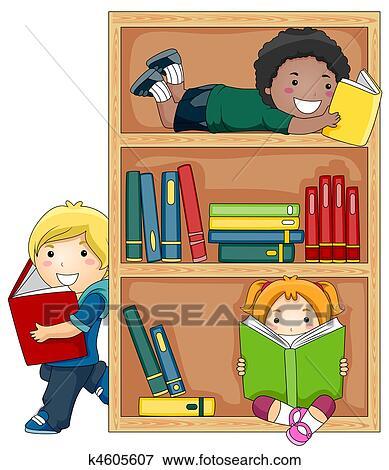 Bücherei clipart  Stock Illustration of Reading Books k4605607 - Search EPS Clipart ...