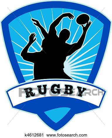 Clipart joueur rugby sauter prise line out k4612681 recherchez des clip arts des - Dessin de joueur de rugby ...