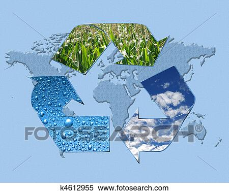 Stock image of save it k4612955 search stock photos for Environmental graphics giant world map wall mural