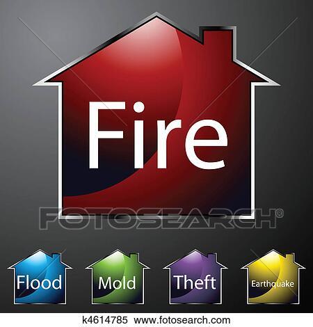 Clipart assicurazione casa icone k4614785 cerca for Assicurazione casa on line