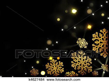stock foto weihnachten hintergrund gold schneeflocken auf a schwarz k4627484 suche. Black Bedroom Furniture Sets. Home Design Ideas