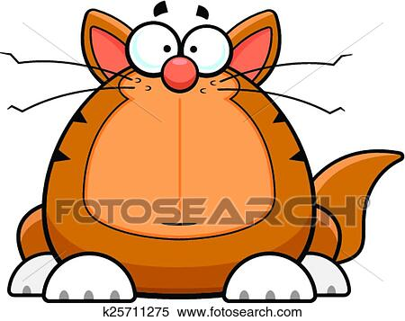 clipart of cartoon funny cat worried k25711275 search clip art rh fotosearch com funny cat clip art images funny kitty clipart