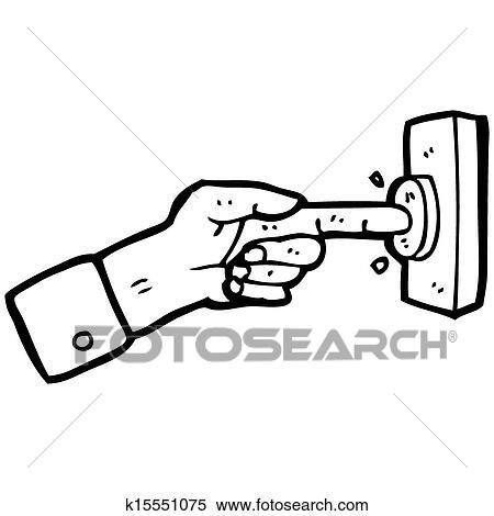 Banque d 39 illustrations dessin anim doigt appuyer - Dessin de doigt ...