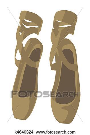 手绘图 - 芭蕾舞拖鞋
