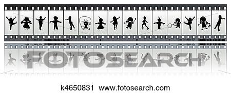 Clipart of Negative film strip with children k4650831 - Search ...