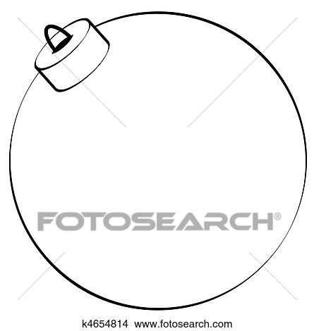 Drawing - christmas ornament outline. Fotosearch - Search Clip Art ...