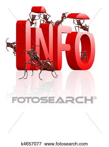 Stock Illustration of information gathering k4657077 - Search EPS ...