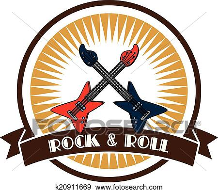 clip art of rock and roll guitar theme k20911669 search clipart rh fotosearch com rock and roll clip art images rock n roll clipart