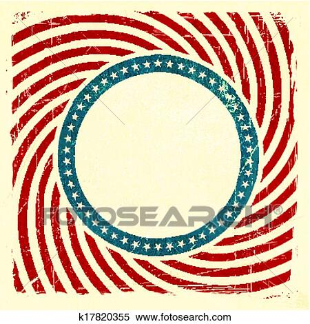 clipart of swirly stripes and stars usa grunge background k17820355 rh fotosearch com