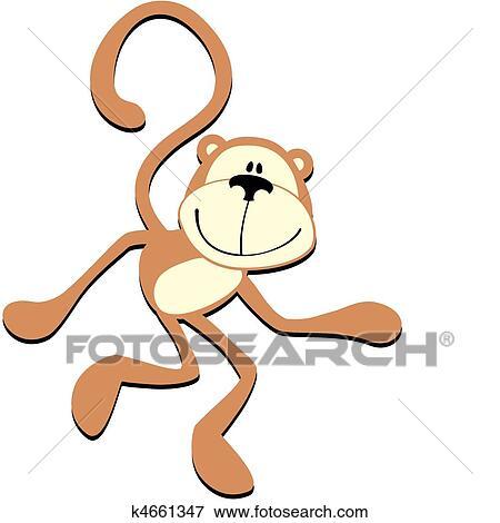 剪贴画 - 微笑, 猴子