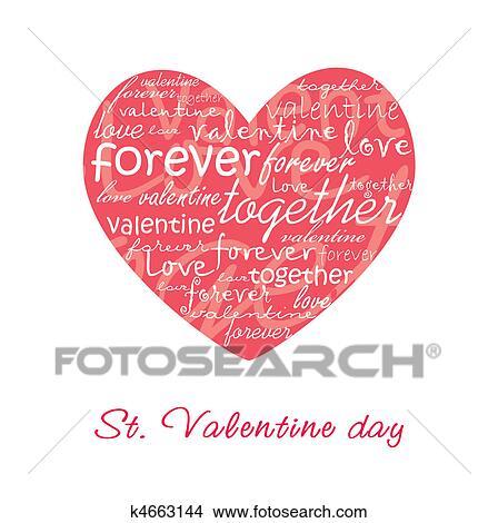 HandDrawn Sketch Hearts Valentines Card Design Vector