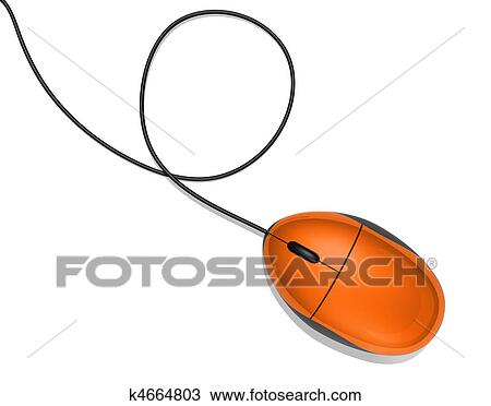 Dessin orange souris ordinateur k4664803 recherchez - Souris ordinateur dessin ...