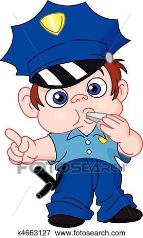clip art of young policeman k4663127 search clipart illustration rh fotosearch com clip art police cars with flashing lights clipart police officer