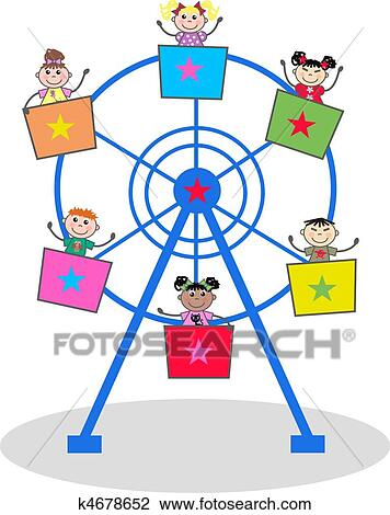 clip art of carousel k4678652 search clipart illustration posters rh fotosearch com carousel clipart vector carrousel clipart free