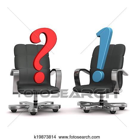 写真素材・動画素材・イラスト素材スケッチ - 肘掛け椅子, 質問, 答え