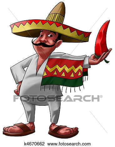 clip art of the mexican and the jalapeno k4670662   search