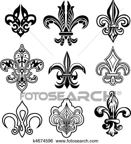 how to draw a fleur de lis