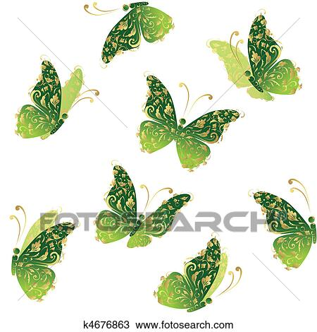 Clipart gr n kunst schmetterling fliegen blumen for Blumen fliegen