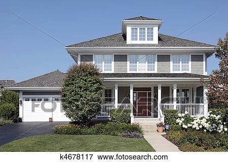 Immagine casa con portico anteriore k4678117 cerca for Portico anteriore costiero
