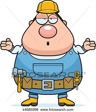 clip art of handyman confused k4685998 search clipart rh fotosearch com handyman clip art free images handyman clip art free download