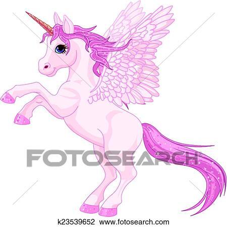 Clipart of Unicorn Pegasus k23539652 - Search Clip Art ...