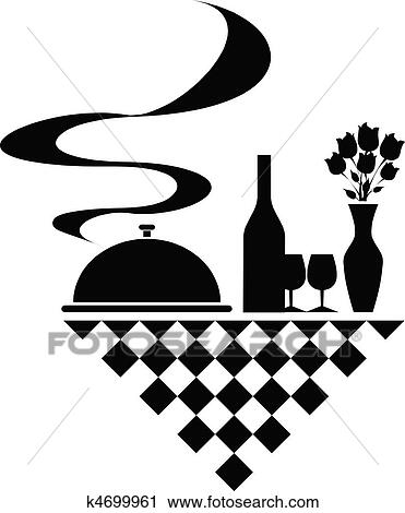 Clipart Of Catering Vector Silhouettes K4699961 Search Clip Art