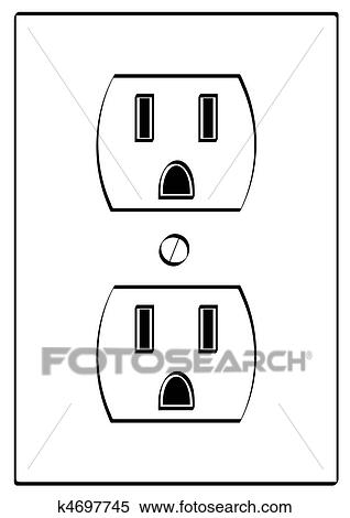 Funny Electrical Outlet Drawing