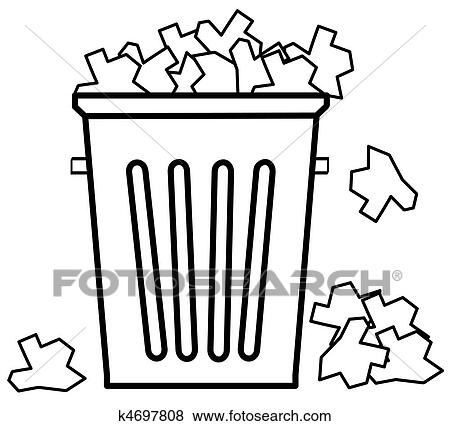 Pictures of Overflowing trash can ks103188 - Search Stock Photos ...